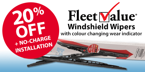 20% Off FleetValue Windshield Wipers