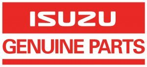 Isuzu Genuine Parts in Red and White.