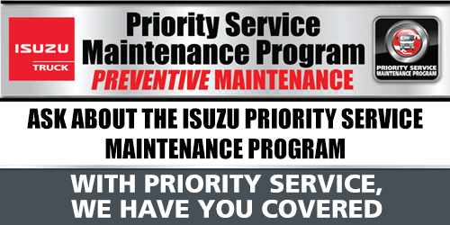 Isuzu Truck Priority Service Program