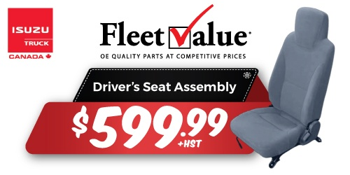 Isuzu FleetValue® Driver's Seat Assembly